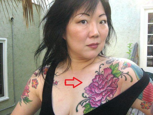 Margaret Cho Peony Tattoo