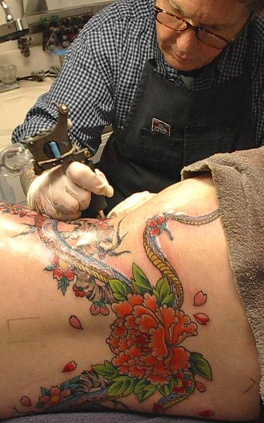Margaret Cho Snake Tattoo