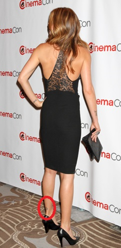 Adrianne Palicki left leg tattoo