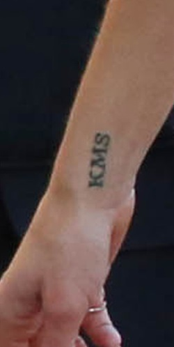 adrianne palicki KMS wrist tattoo