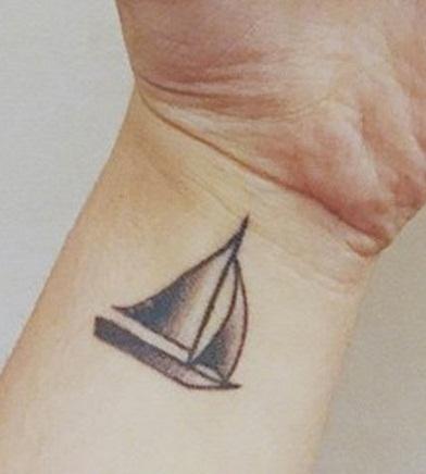 alessia cara sailboat tattoo