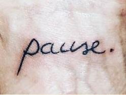 asia argento pause tattoo