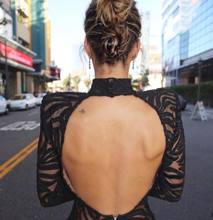Catt Sadler back tattoo