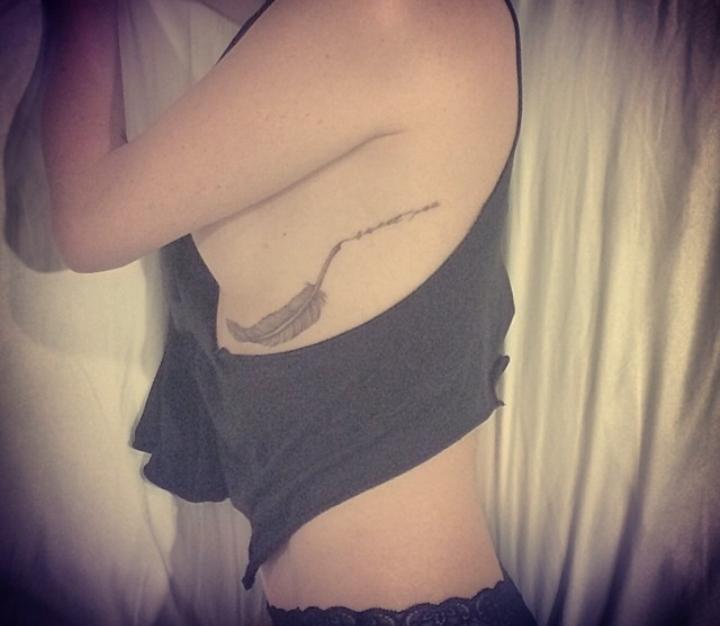 Catt Sadler Left Ribcage Tattoo