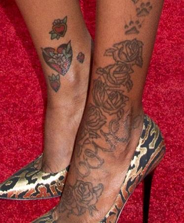 fantasia roses hearts love rses paw prints tattoo