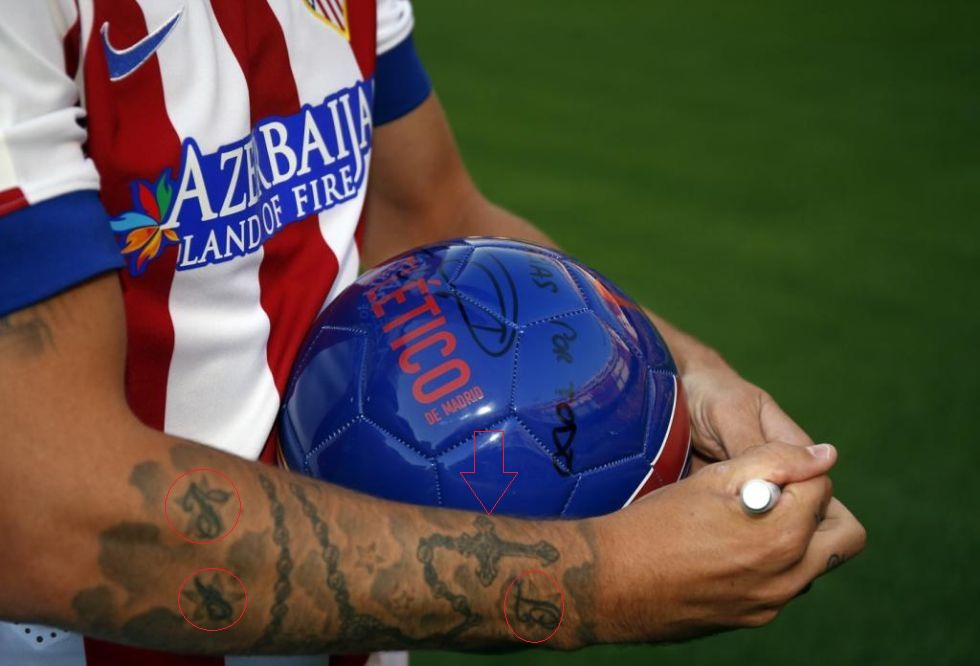 Antoine Griezmann right forearm tattoo