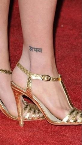 Brittany Snow Ankle Tattoo