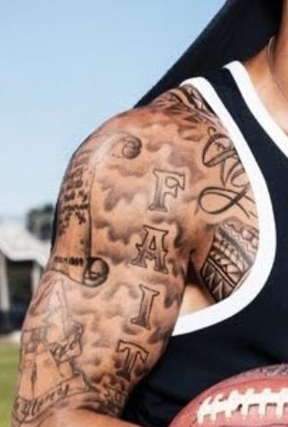 Colin Kaepernick FAITH Tattoo
