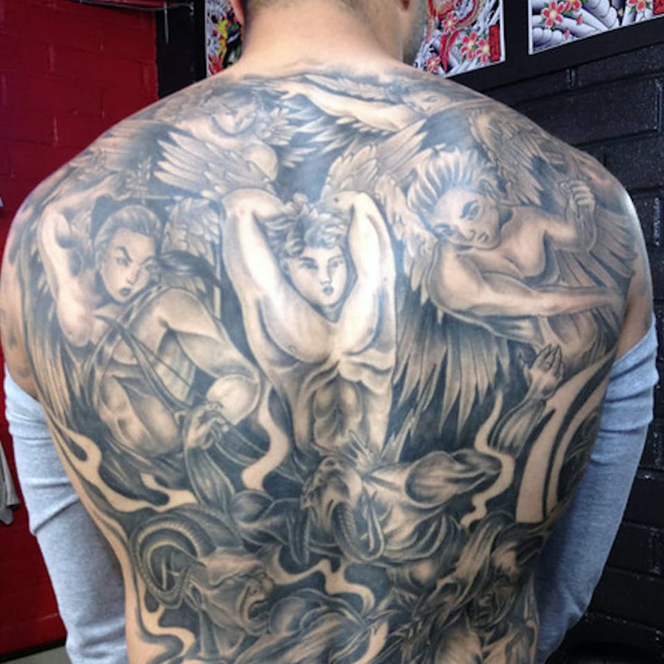 Colin-Kaepernicks Back Tattoo