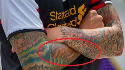 Daniel Agger Rightarm Tattoo