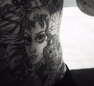 Daniel Agger Stomach Tattoo