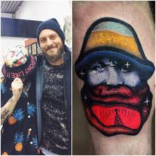 Daniel D Rosie right leg front tattoo02