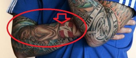 Danniel Agger Portrait and Flag Tattoo