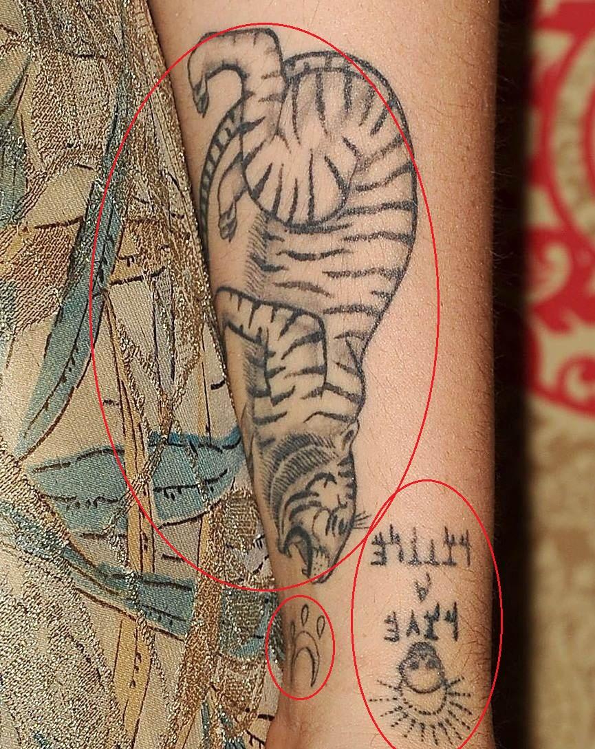 Jemima kirke left forearm tattoo.