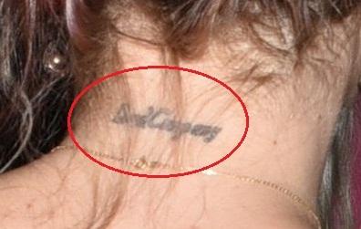 Jemima kirke neck tattoo