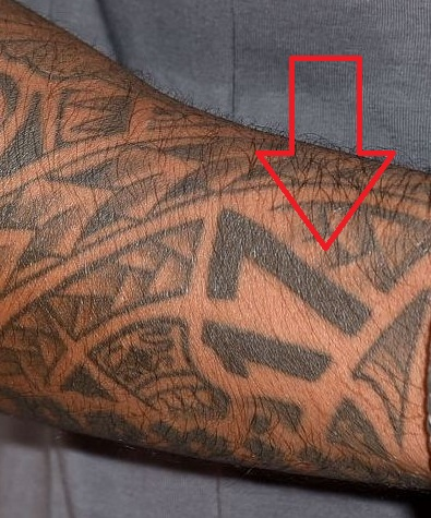 Jerome Boateng Intricate Designs on Both Arms Tattoo