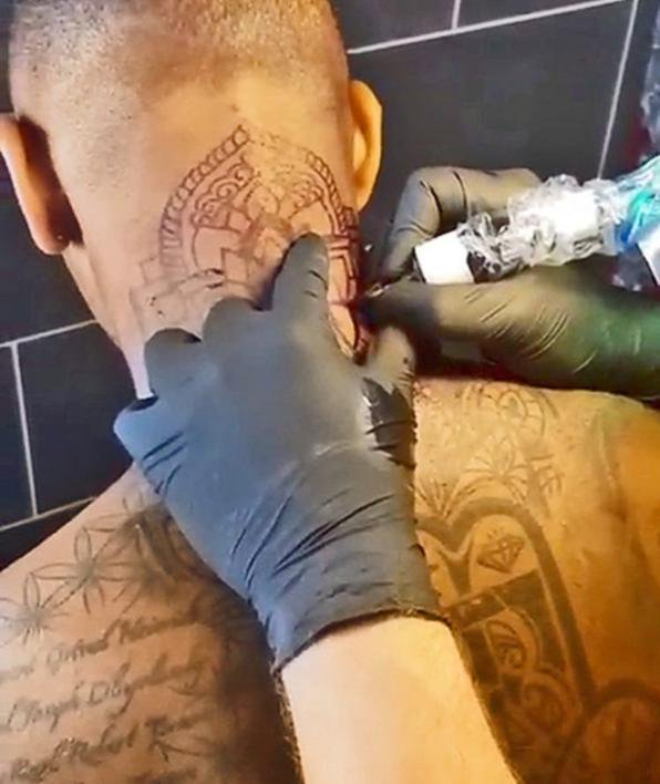 Jerome Boateng Mandala Tattoo