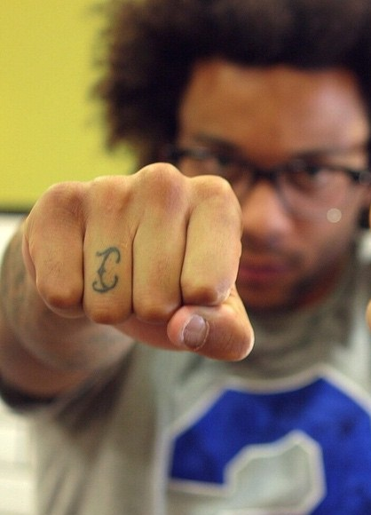 Marcello left knuckle Tattoo