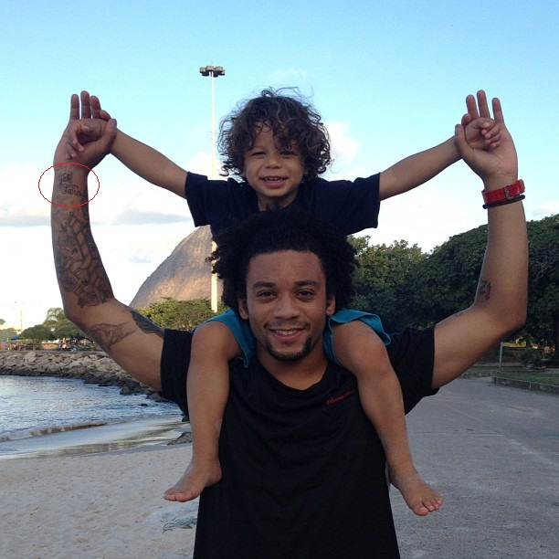 Marcelo right arm wrist quote tattoo