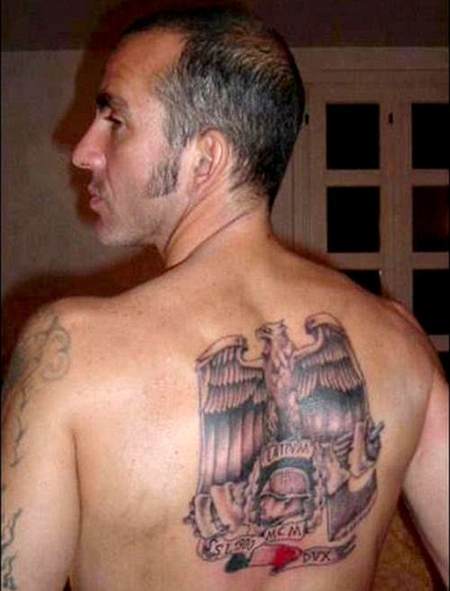di canio back tattoo