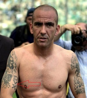 Paolo Di Canio right arm DVX tattoo