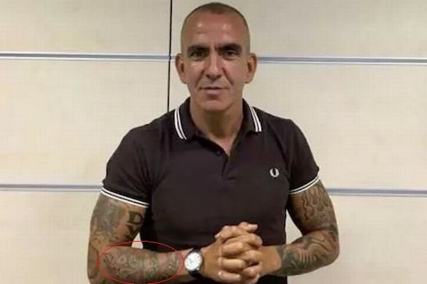 Paolo Di Canio right forearm tattoo