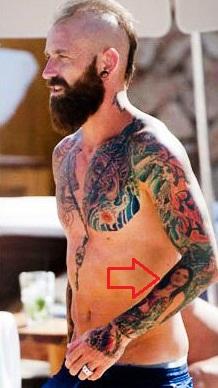 Raul Meireles Left Arm Women Face Tattoo