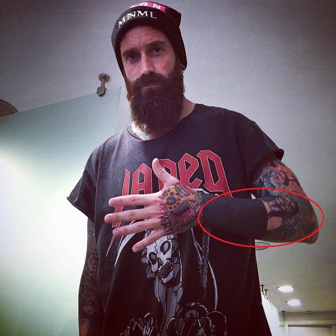 Raul Meireles Left Arm Women Face Zombie Tattoo