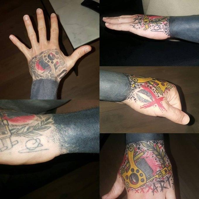 Raul Meireles Left Hand Tattoo