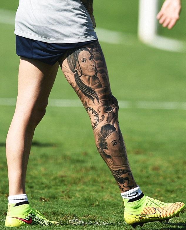 Raul Meireles Left Leg Tattoo 2