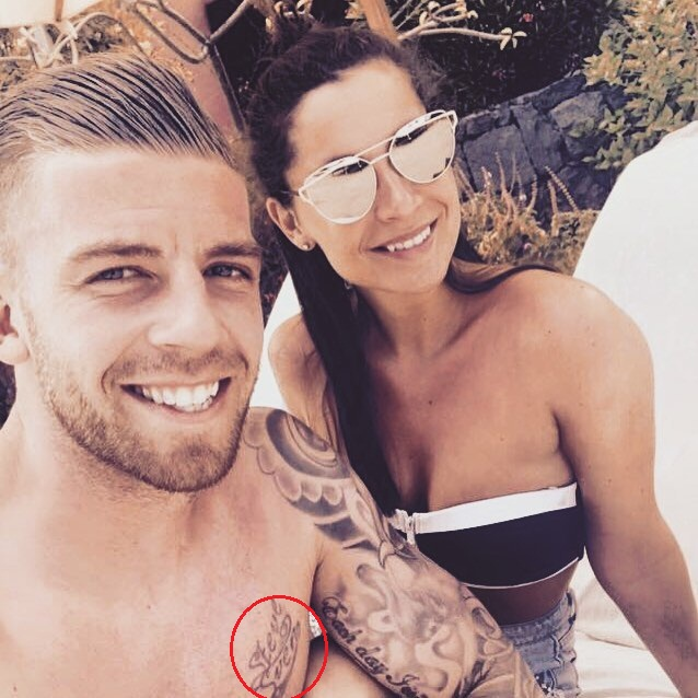 Toby Aderweireld chest Tattoo