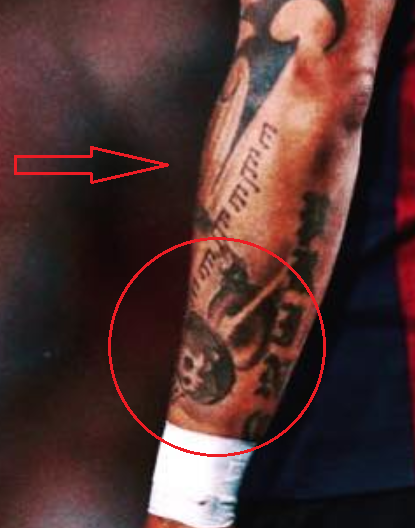 kevin prince boateng cannon notes tattoo