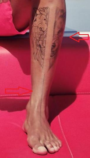 kevin prince boateng lion line tattoo