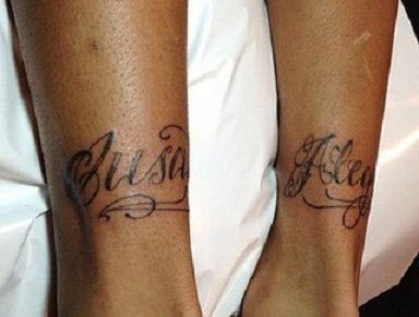 neymar jr calf tattoos