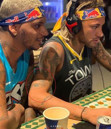 neymar jr eye tattoo