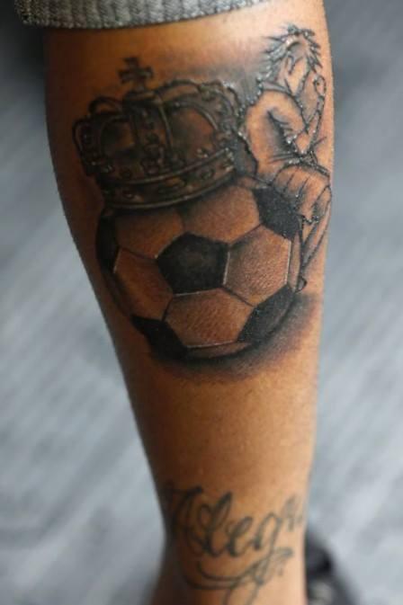 neymar jr football tattoo