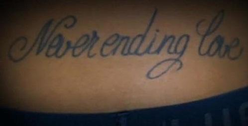 neymar jr never ending love tattoo