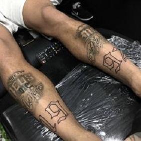 neymar jr shin tattoo