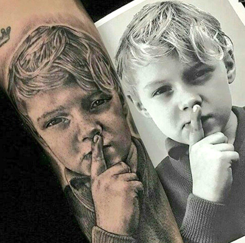 neymar jr son tattoo 1