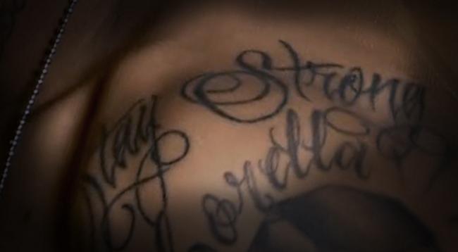 neymar jr stay strong tattoo