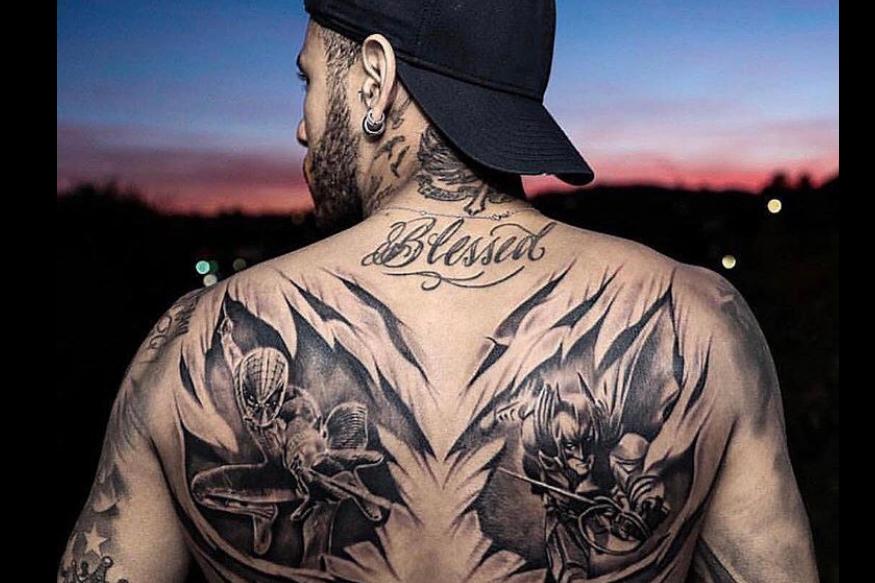neymar jr superheros tattoo