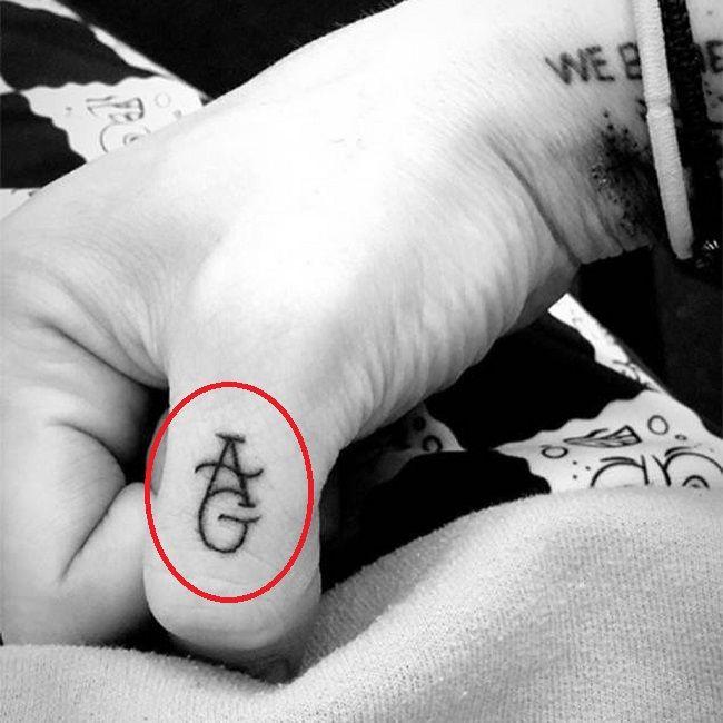pete davidson-ag tattoo