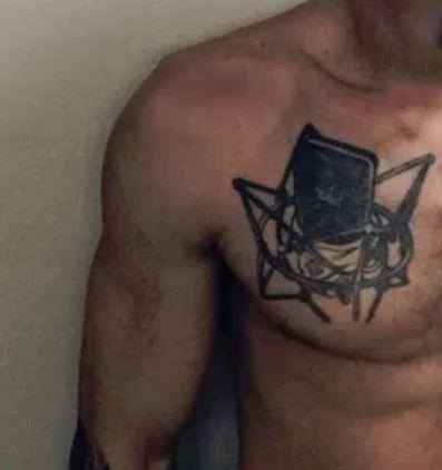 Aaron Carter Chest Tattoo