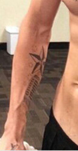 Aaron Carter Star, Initials Tattoo