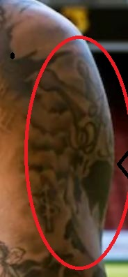 Andre Gray Flying Angel Tattoo