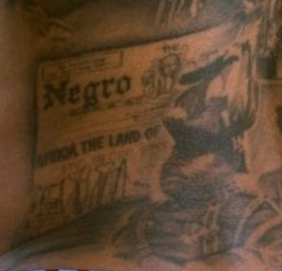 Andre Gray Marcus Garvey Tattoo