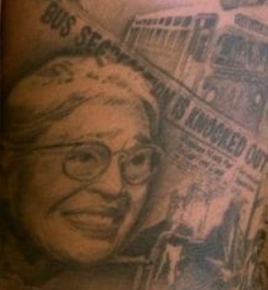 Andre Gray Rosa Parks Tattoo