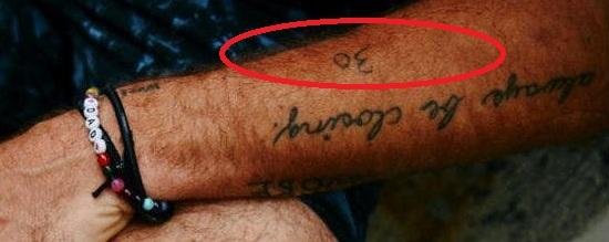 Casey Neistat 30 Tattoo