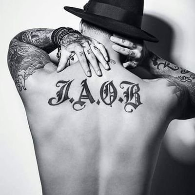 J Balvin Back Tattoo
