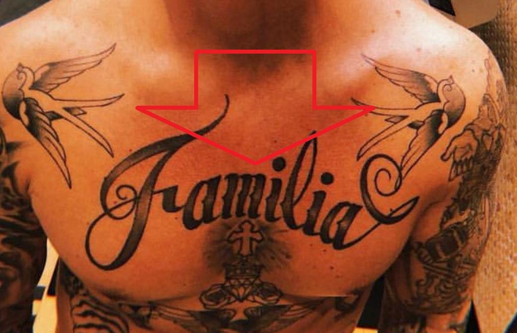 J Balvin Familia Tattoo